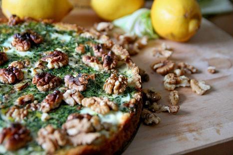 Nylagad paj på grönkål och valnötter. gronkalspaj.jpg