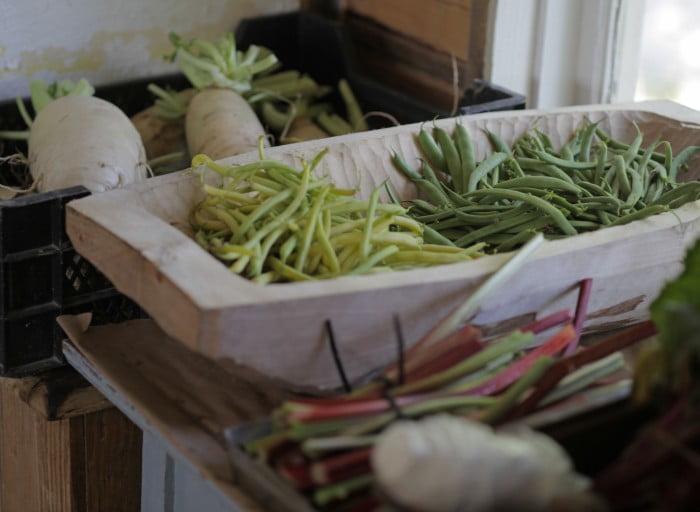 Grödor i gårdbutiken.