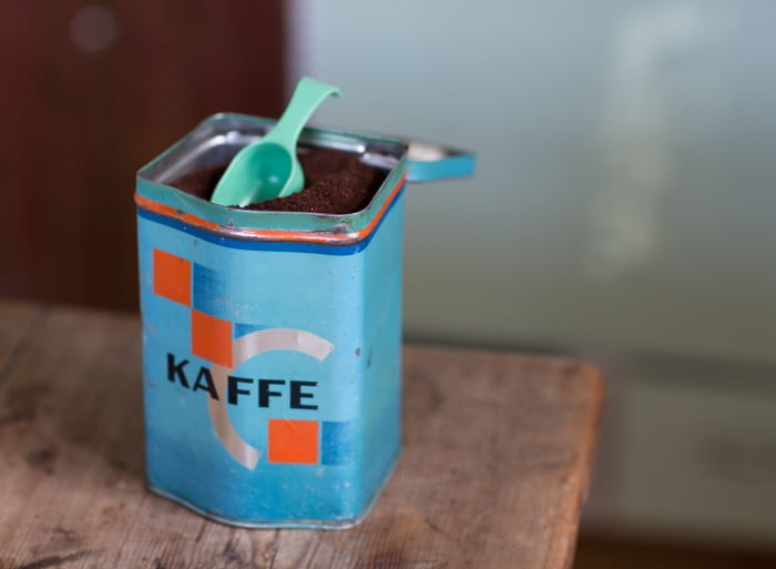plåtburk kaffe