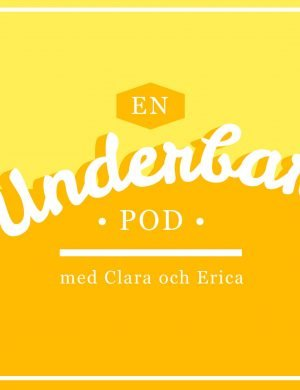 Gula glad logga för En Underbar Pod med Clara och Erica