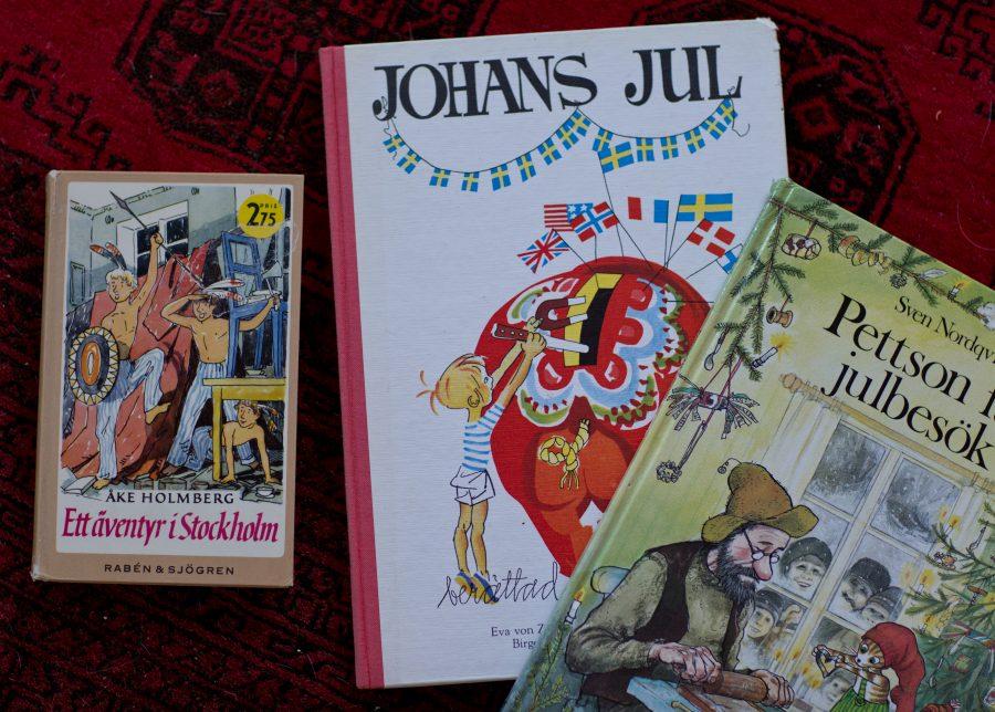 Julböcker bland annat Johans jul och Pettsson och Findus.
