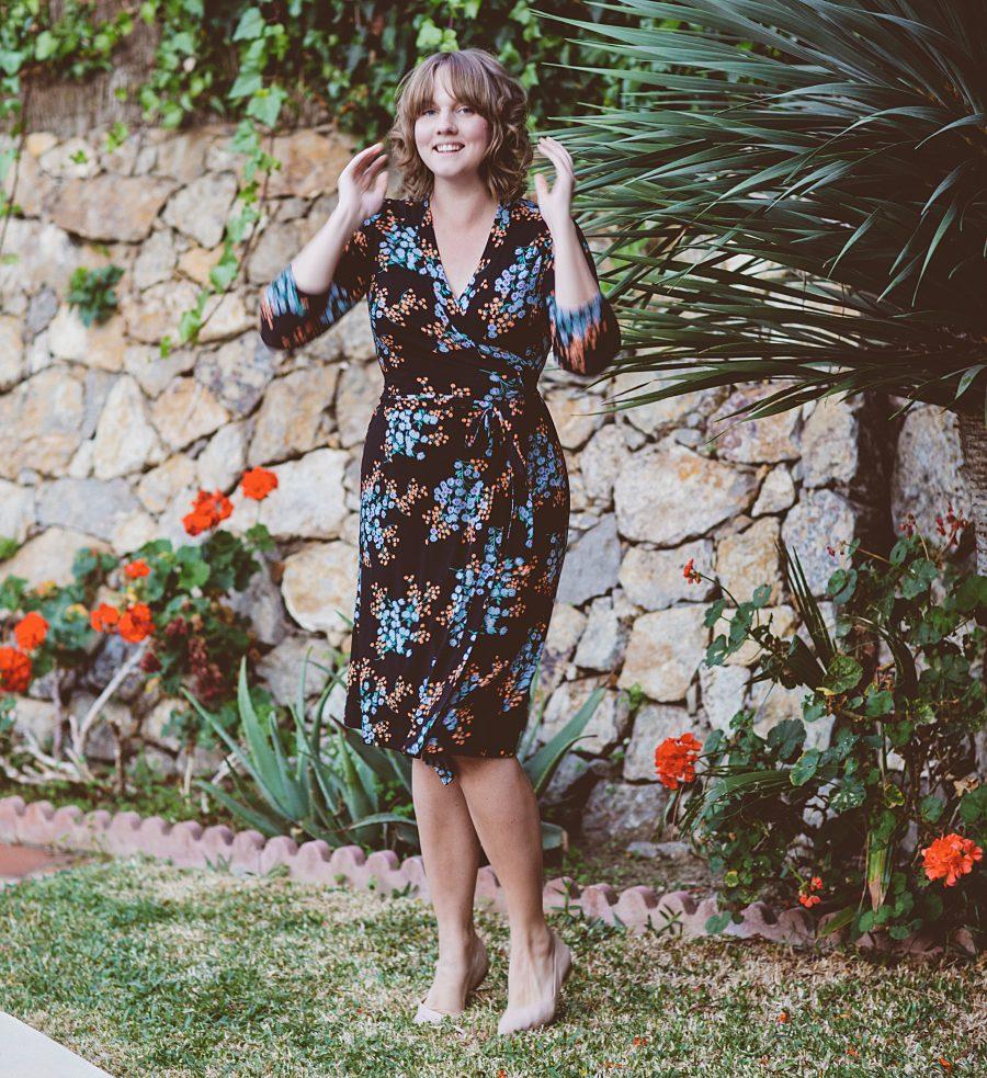 Clara utomhus i miss clarity -klänning