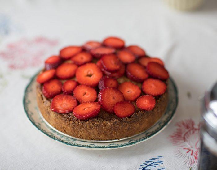 kokospaj recept jordgubbar kaka